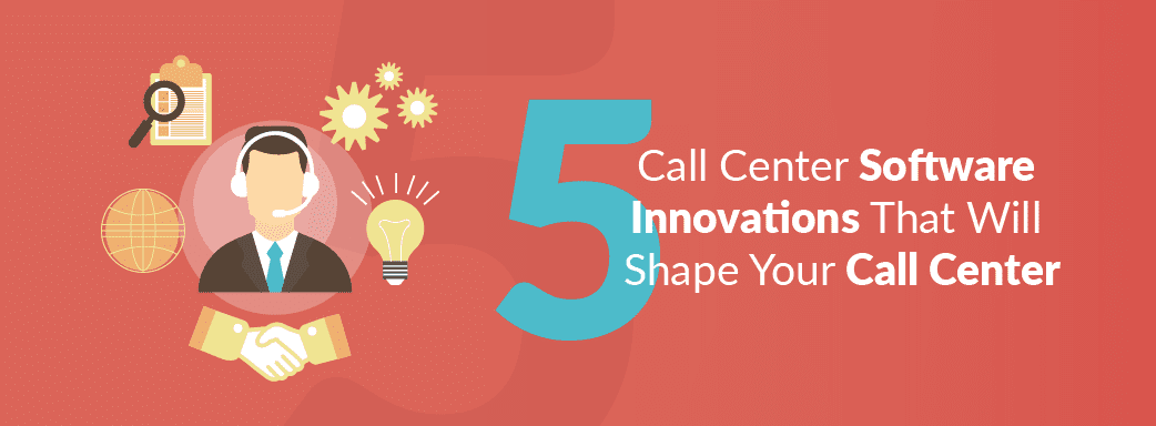 Call Center Agent Surrounded by Innovations